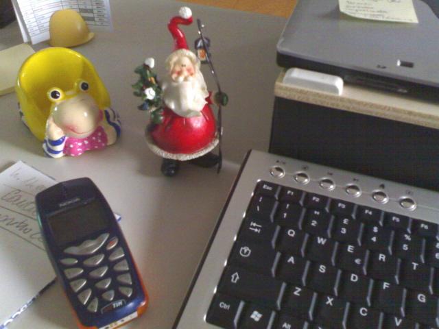 Babbo Natale inufficio
